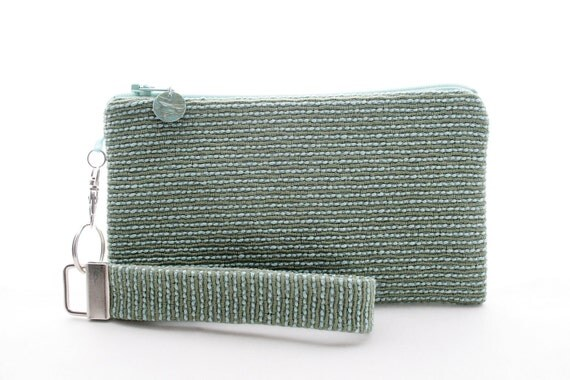 Sage green clutch - womens small purse - beach wedding bridesmaid clutch - handmade purse - small fabric handbag - evening bag - ocean water