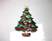 Christmas Brooch Christmas Tree With Yellow Star Pin
