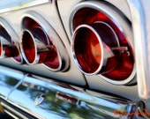 1964 Chevy Impala SS Taillights - Metallic Photograph - Vintage Car - Retro Wall Art