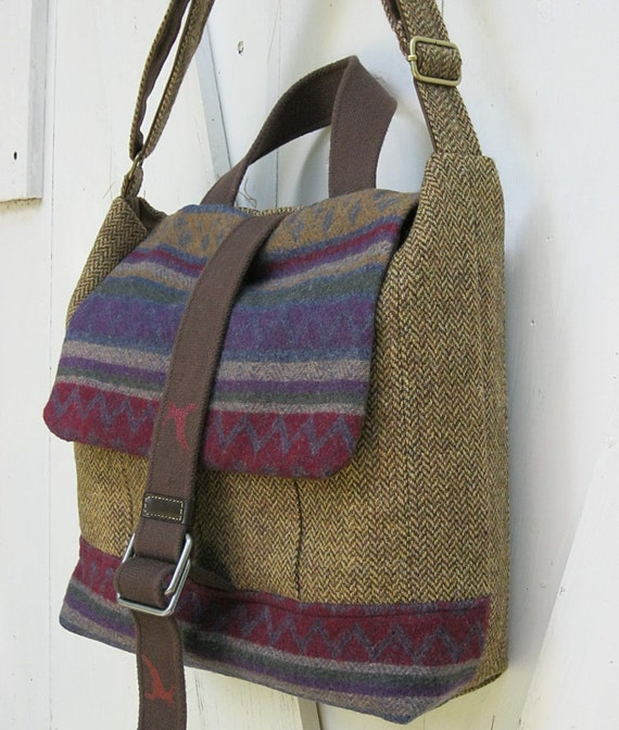 Messenger, laptop, travel bag, satchel, multicolored, brown tweed suit coats, Men Women- Adirondacks High Peaks Hiker, Algonquin Peak, 5770