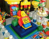 Printable Building Blocks Birthday Party Package (PDF)