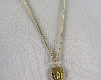 vintage necklace seniors high school pendant gold graduation cap 1977