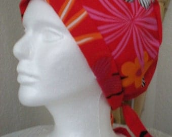 Red Florentine - Tie-back Surgical Scrub Hat for Medical Personnel