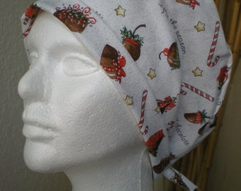 Tis the Season - Tie-back Surgical Scrub Hat