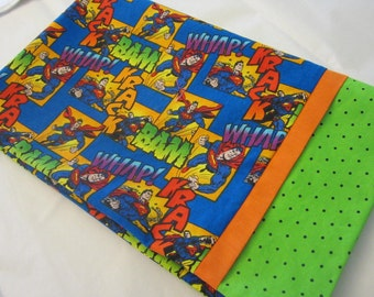 CLEARANCE Super Man Childrens or Travel  Pillow Case