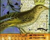Collage Art Bird Print