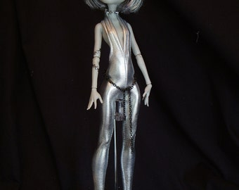 Silver Lady Catsuit  for Your Monster High Doll