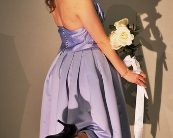 Orchid Halter Bridesmaid Dress Prom Ready to ship size 14 - 16 Large XL