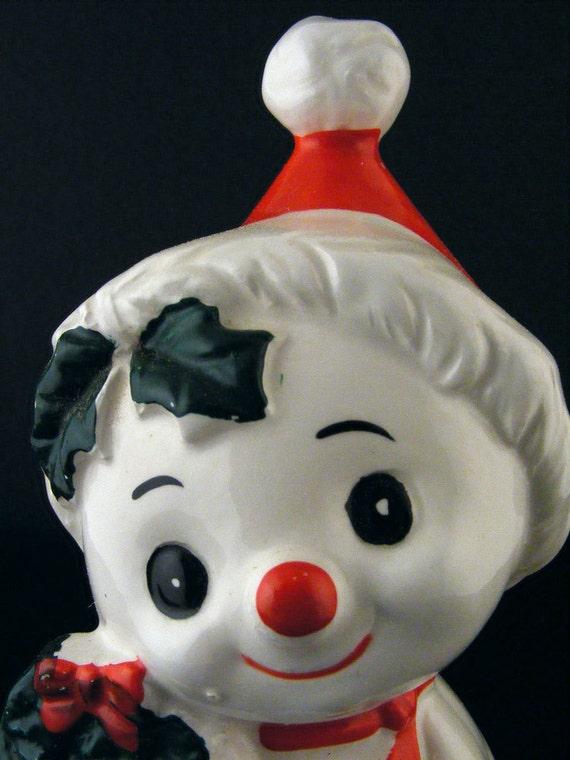 Vintage Christmas Bell Brinn Porcelain Snow Elf Holiday Decor