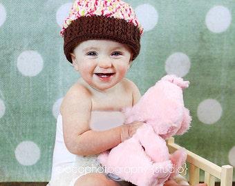 Crochet Pattern - Cupcake Cap