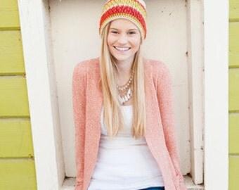 Crochet Pattern - Women's Hat Textured Crochet Pattern