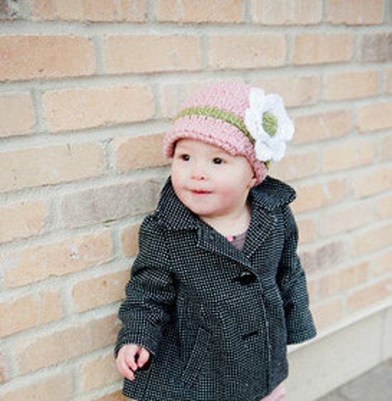 Crochet Pattern - Kids Hat, Skylar Brimmed Beanie
