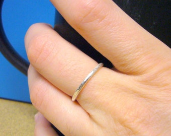 Handmade silver ring Sterling silver ring • Sterling silver stacking ring • Stackable ring