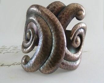 Vintage Bracelet - Bohemian Cuff - Bohemian Jewelry - Cuff Bracelet - Vintage Brass - Spiral Bracelet - Statement Bracelet - handmade