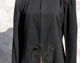 Vintage JACKET 40's gabardine beaded riveted jacket sL MONARCH sL by thekaliman