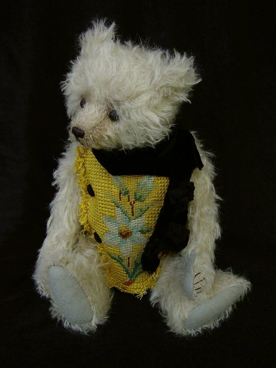 Hamilton, One of a Kind Mohair Artist Bear with French Vintage Tapestry