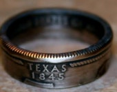 2004 Texas State Quarter Coin Ring  You Pick Size 5 to 12 by Custom Coin Rings
