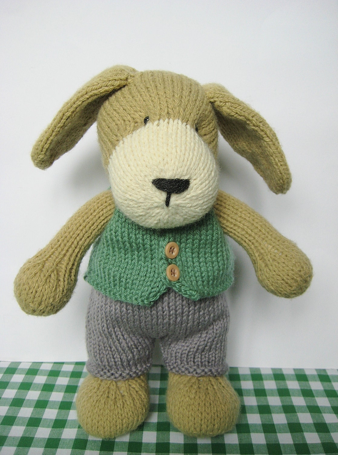 Free Knitting Pattern Toy Puppy : Puppy toy knitting pattern by fluffandfuzz on Etsy