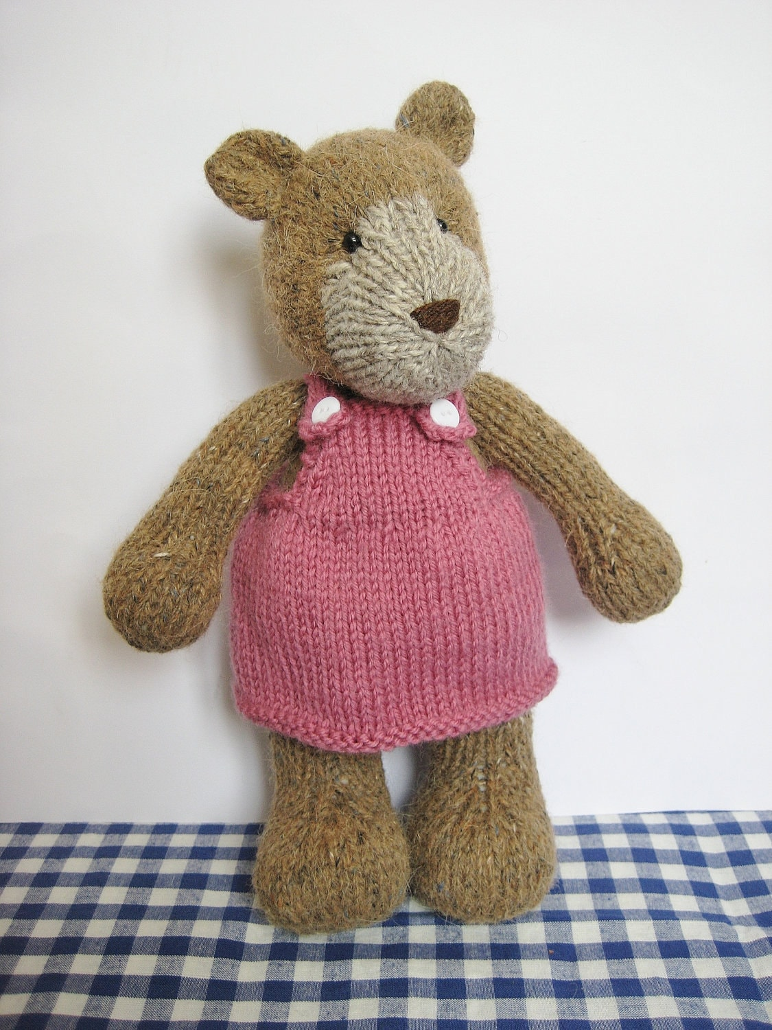 Knit Bear Pattern : Teddy bear knitting pattern by fluffandfuzz on Etsy