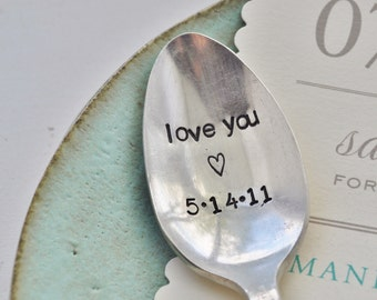 LOVE YOU - Vintage Wedding Spoon