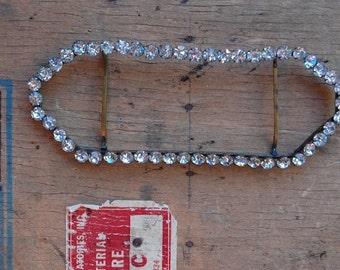 vintage rhinestone buckle / 1910s jewelry / DOWNTON