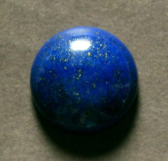 cabochon blue LAPIS round 18mm disc dome designer cab