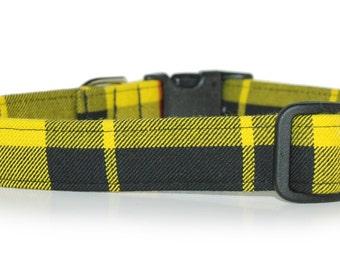 Tartan Dog Collar,,,,Macleod , Authentic Scottish Tartan