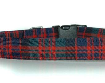 Tartan Dog Collar,,,,,,, Macdonald , Authentic Scottish Tartan Dog Collar