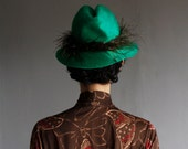 1960's green feather fedora