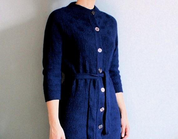 1960's navy sweater dress
