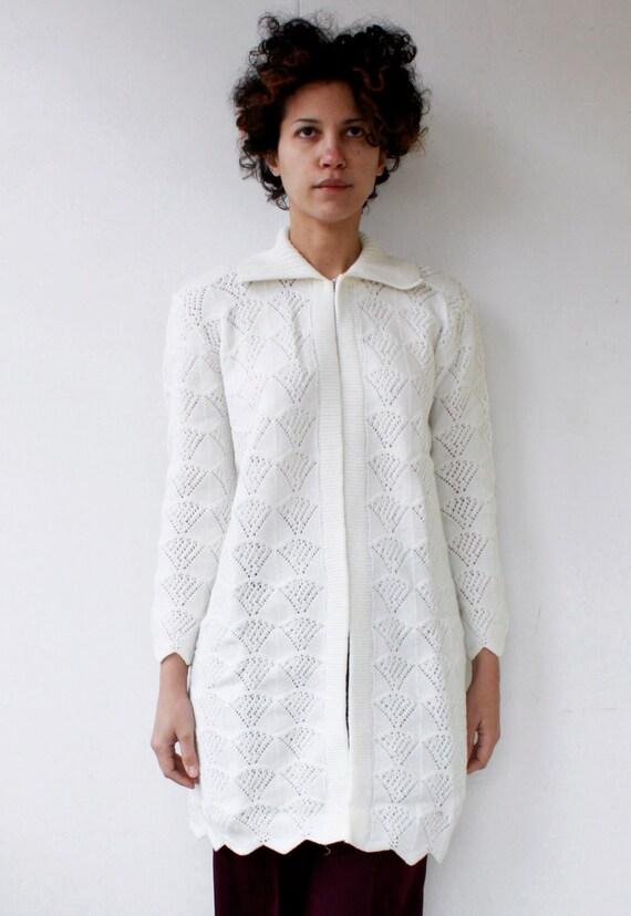 SALE . 1970's long knit cardigan