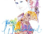 Print of Watercolour Fashion Illustration  - Mia on the cover of Australian Vogue