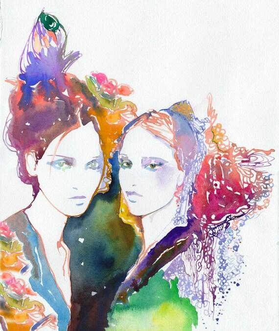 Fashion illustration, Fashion Print, Fashion watercolor. Giclee Print, Watercolour Fashion Illustration Fashion Wall Art, Fashion Gift