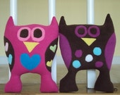 Personalized Plush Owl - Made to Order Stuffed Owl - Owl Pillow