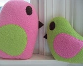 Custom Plush Mommy and Baby Bird Set - Custom Large Bird and Small Bird