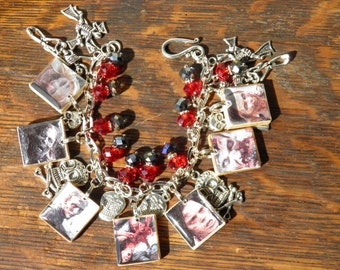 Zombie Bracelet, Walking Dead Jewelry, Zombie Apocalypse, Goth Jewelry, Zombie Jewelry, Halloween Jewelry, Halloween Bracelet OOAK #1
