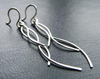 Twig Earrings - Branch Earrings, Long Earrings, Dangle Earrings