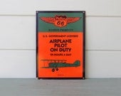 Enamel Sign Phillips 66 Aviation Products