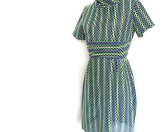 Sale Vintage Mesh ZigZag Dress