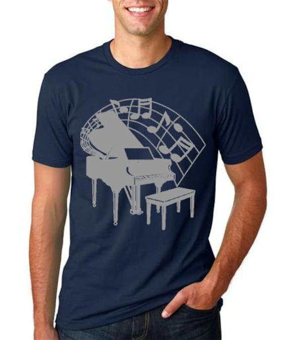 piano t shirt cool musician tshirt by thinkoutloudapparel