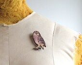 spotted owl brooch pin