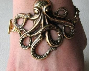 octopus bracelet - gold