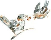 Bird Greeting Card, Art Greeting Card, Birthday Card for him, Anniversary card, Card for Boyfriend, Card for Husband