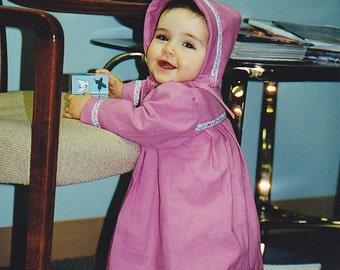 Custom Made Infant Coat and Bonnet