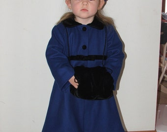Custom Made Wool or Linen Coat For Baby and Toddler Girls