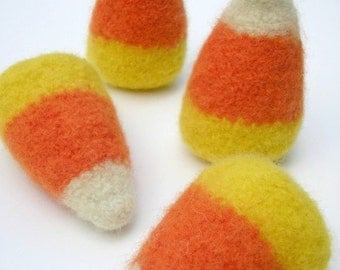 PATTERN-BOOKLET. A Knit & Felt Wool Candy Corn Pattern