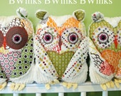 LAST ONE - Original BWinks Stuffed Owl Pillow - Owl Plush Friend - Natural