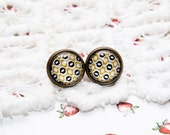 Honey bee black and yellow Earrings