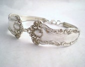 Spoon Bracelet, FREE ENGRAVING Antique Silverware, Wedding Jewelry, Bridesman Gift, Vintage Wedding OXFORD 1901