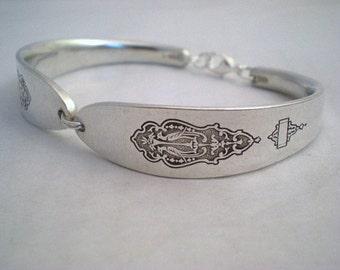 Spoon Bracelet, Silverware Jewelry, Free Engraving, Vintage Wedding, Bridesmaid Jewelry, Vintage Silverware Jewelry - BIRD OF PARADISE 1923